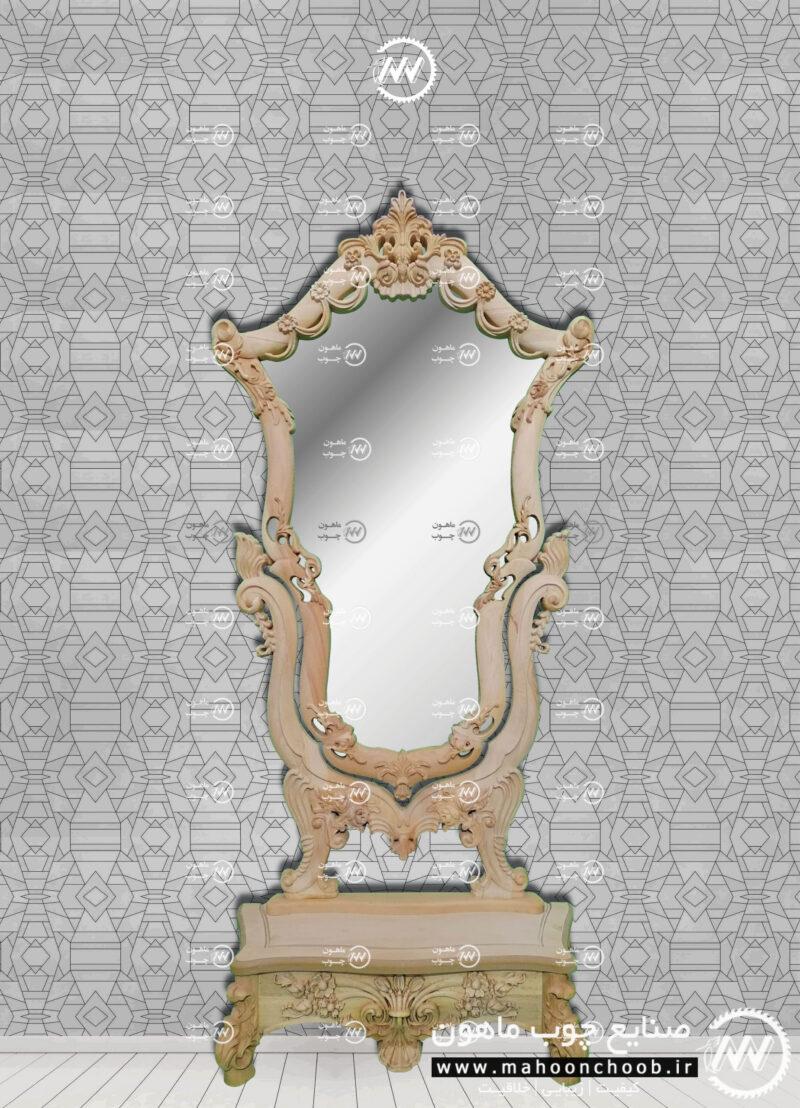 آینه کنسول منبت سروین