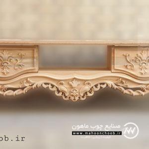 میز تلویزیون سلطنتی چوبی منبت مرسانا